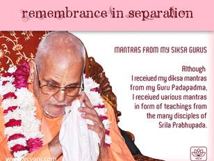 The Mantras Received From Śikṣā Gurus