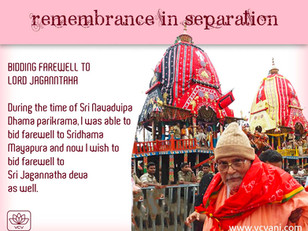 Bidding Farewell to Jagannātha-deva