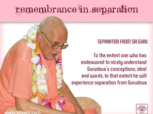 Separation From Gurudeva