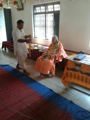With Srila Maharaj in Vrindavan