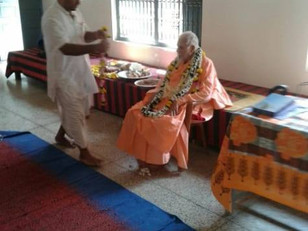 With Srila Maharaj in Vrindavan