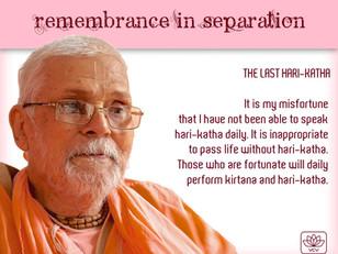 The Last Hari-kathā