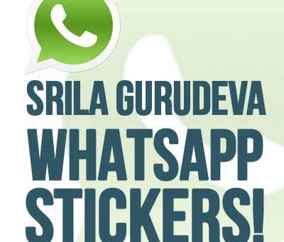 Srila Gurudeva WhatsApp Stickers!