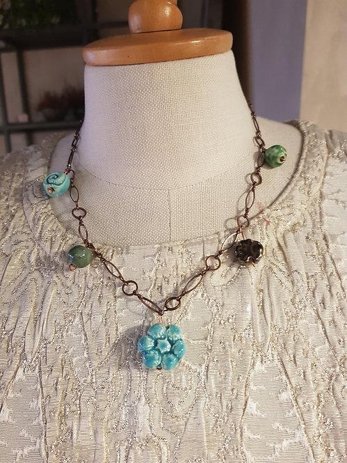 Chain blue corta