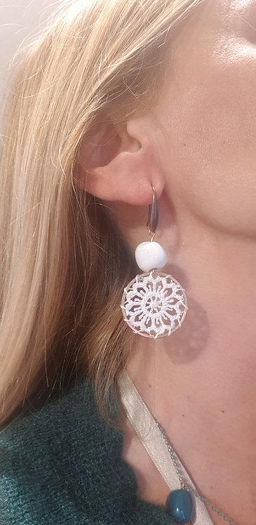 orecchini total white