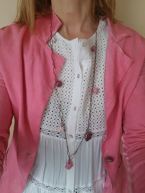 Chain lunga Pink