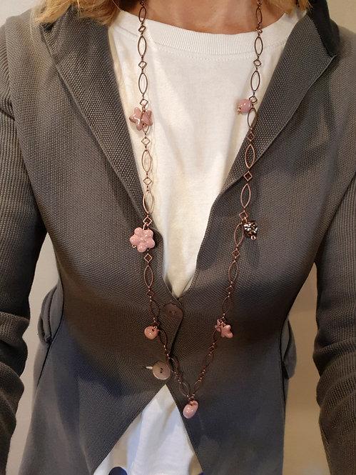 Chain lunga rosa antico