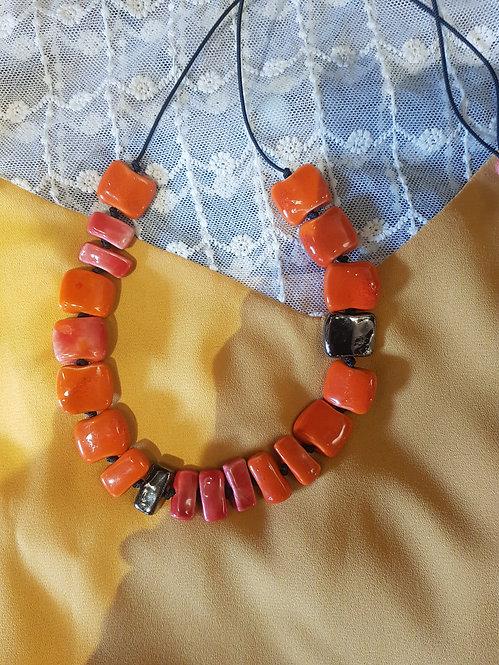 Vichy arancio e rosso