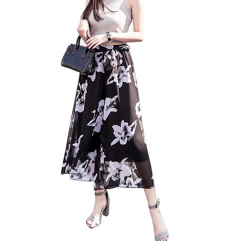Stylish Printing Design Loose Fitting Pants Wide Leg Trousers Slacks for Women,