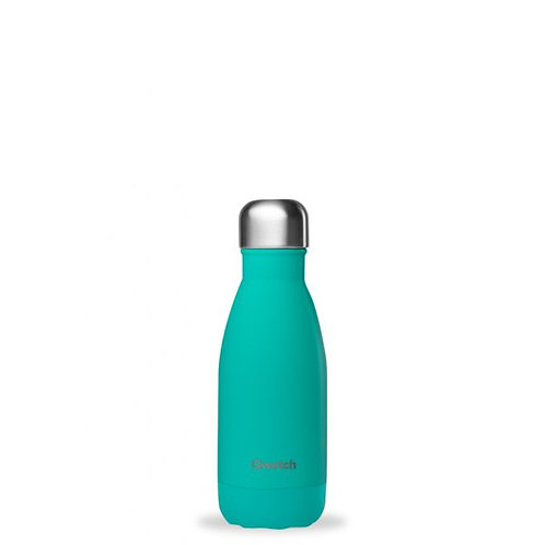 Bouteille inox isotherme 260ml/Bleu lagon - Qwetch