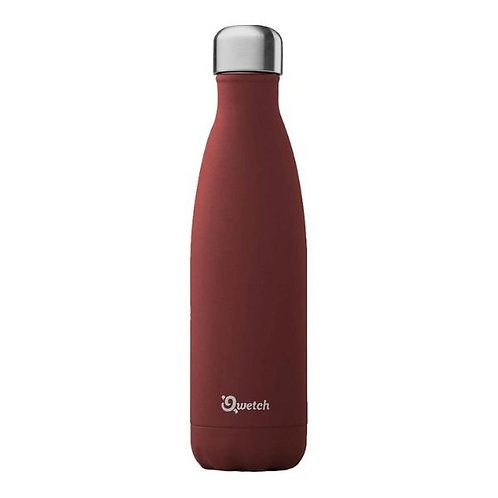 Bouteille inox isotherme 500ml/Granite/Rouge piment - Qwetch
