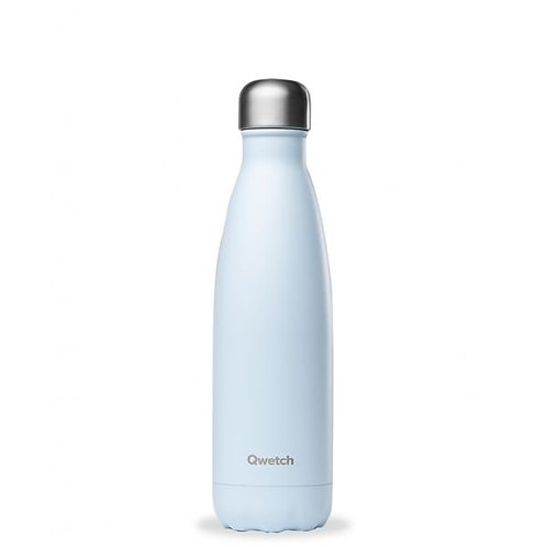 Bouteille inox isotherme 500ml/Pastel bleu - Qwetch