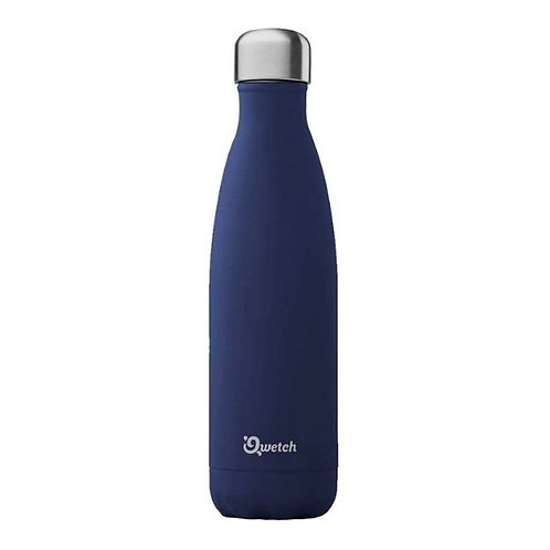 Bouteille inox isotherme 500ml/Granite/Bleu nuit - Qwetch