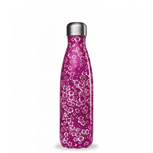 Bouteille inox isotherme 500ml/Flowers pink - Qwetch