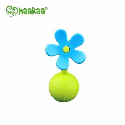 Haakaa - Bouchon Recueil-Lait Petite Fleur Silicone - Bleue
