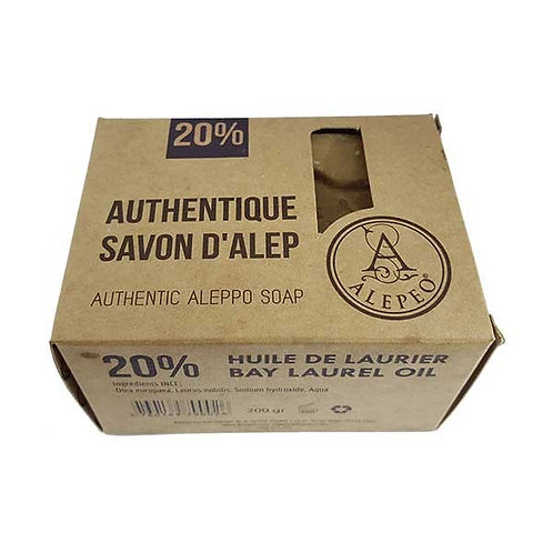 Savon d'Alep Biologique  20% - 200gr / Alepeo