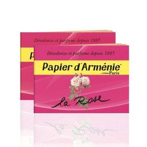 """Papier d'Arménie  """"La Rose""""  - 2 carnet de 36 bandes"""