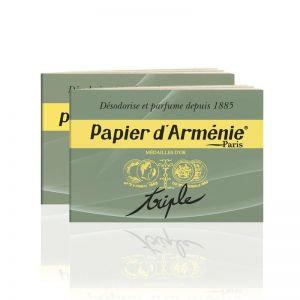 """Papier d'Arménie """"Triple""""  - 2 carnet de 36 bandes"""