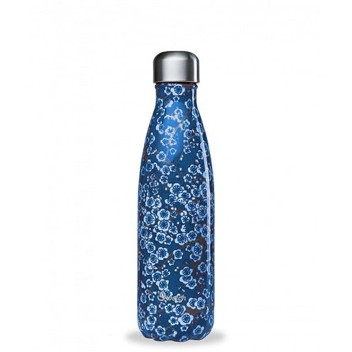 Bouteille inox isotherme 500ml/Flowers blue - Qwetch