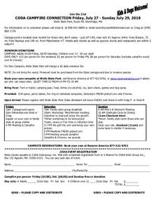 Campfire Connection Registration
