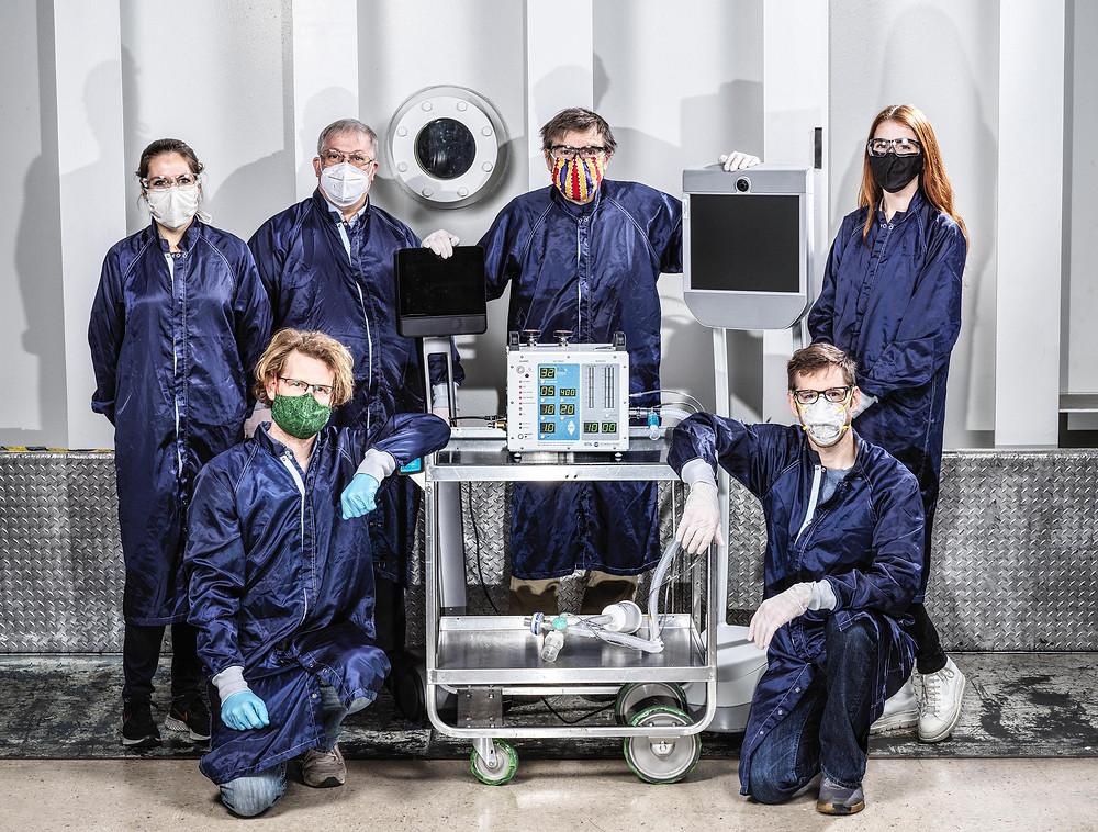Engenheiros da NASA desenvolveram protótipo de respirador mais barato e mais prático (Foto: Divulgação NASA/JPL-Caltech)
