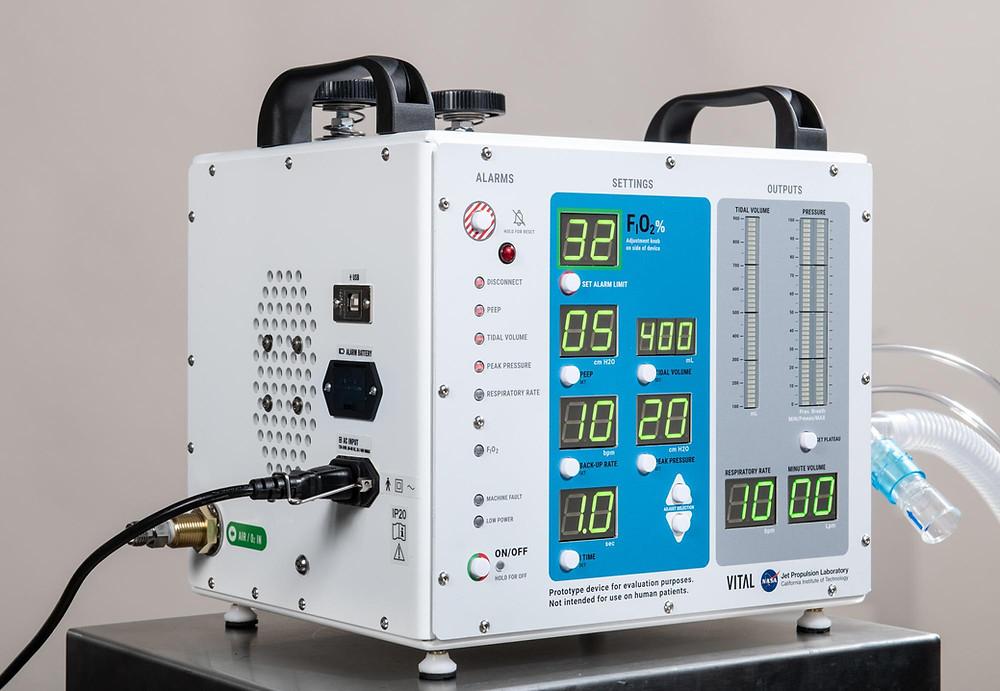 Ventilador Pulmonar VIDA, fabricado pela Russer Licenciado e Patenteado pela NASA e JPL. Equipamento com foco no combate ao COVID-19 para suprir a escassez do mercado mundial e salvar o maior número e vidas possíveis.