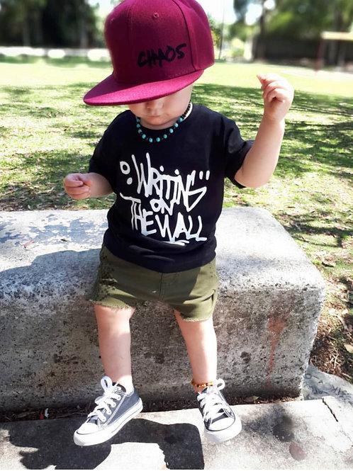Customisable Snap-back Cap (Burgundy -Junior Sizing