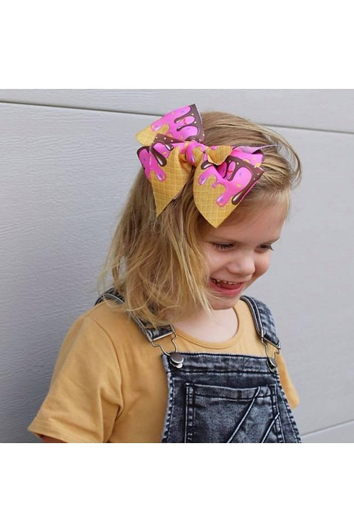 Ice Cream Swagger Bows (Big and Beautiful)