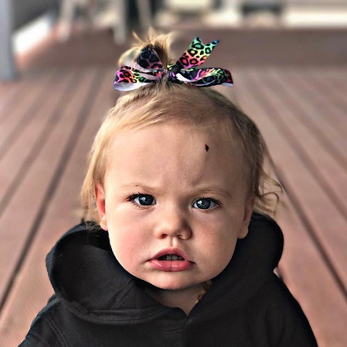 Rainbow Leopard Swagger Bows