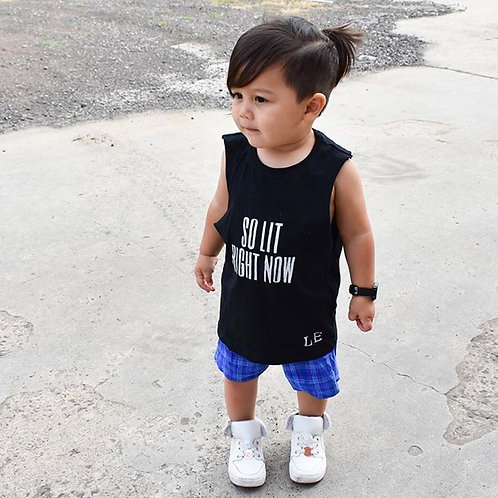 Blue Check Shorts  (Sizes NB-10)