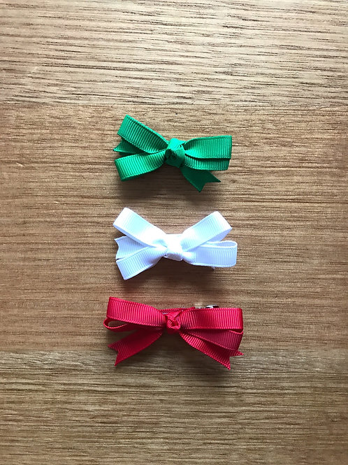 Itty Bitty Christmas Bows (pair)