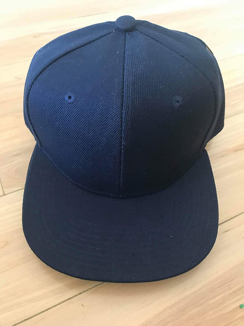 Customisable Snap-back Cap (Navy - Junior Sized)