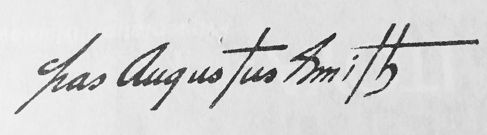 Charles Augustus Smith Signature
