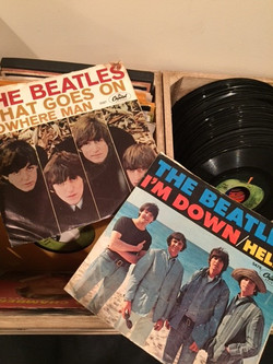 Beatles 45's in Picture Sleeves
