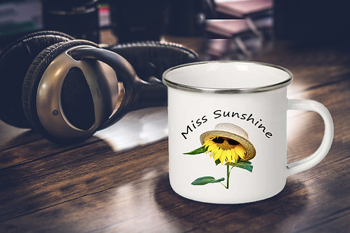 Emaille Tasse 300 ml, Miss Sunshine