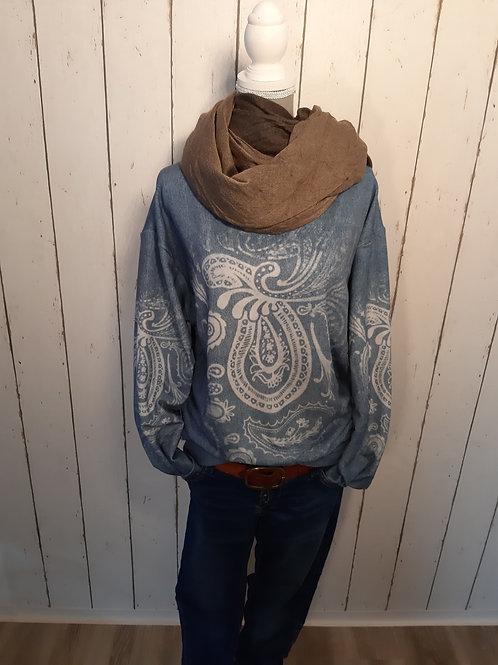 Sweatshirt im Denim Style mit Muster