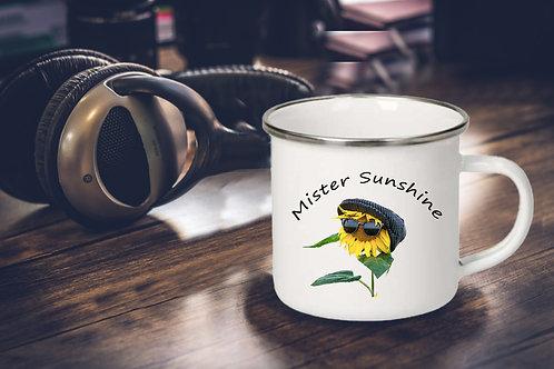 Emaille Tasse 300 ml, Mister Sunshine