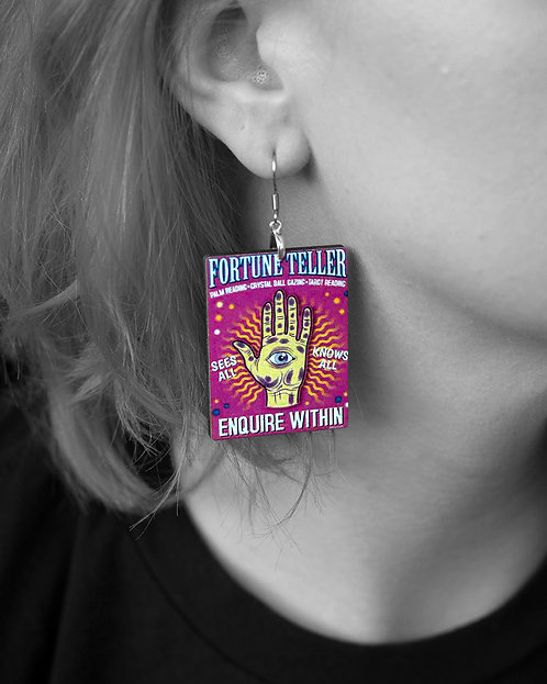 """""""Fortune Teller"""" Earrings"""