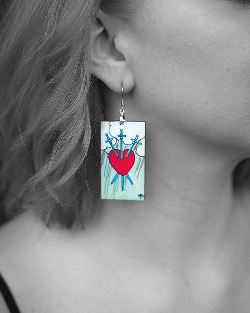"""""""Three of Swords"""" Earrings"""