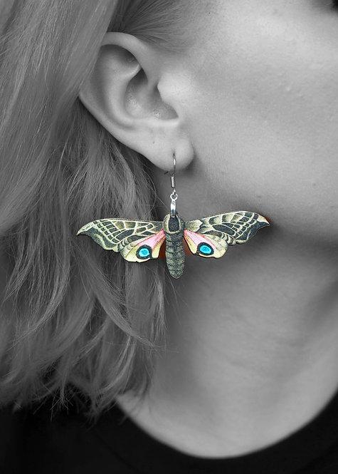 """""""Eye of the Hawk Moth"""" Earrings"""