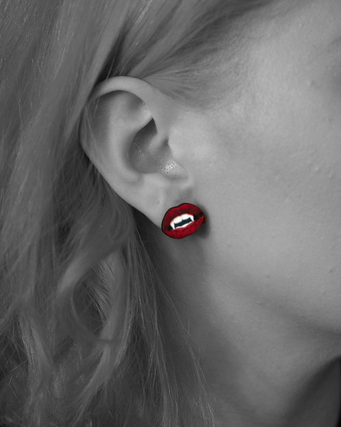 """Kiss of the Vampire"" Stud Earrings"