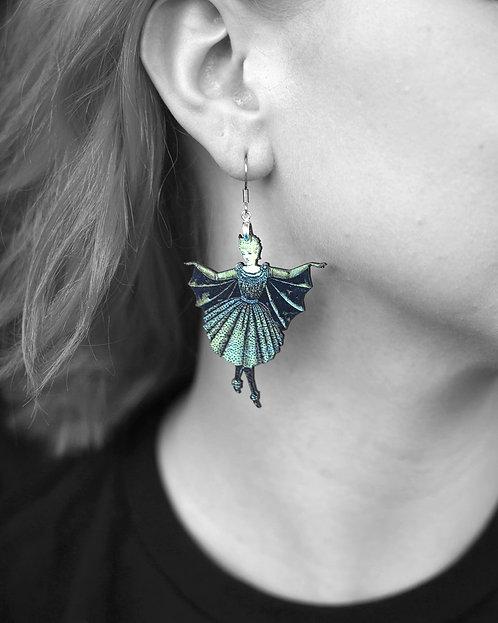 """""""The Lady Bat"""" Earrings"""
