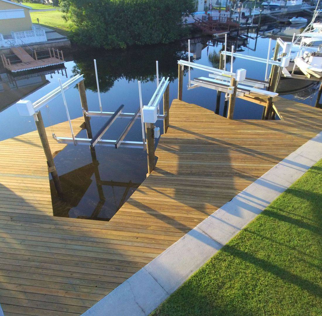 Dual vertical lifts with dock