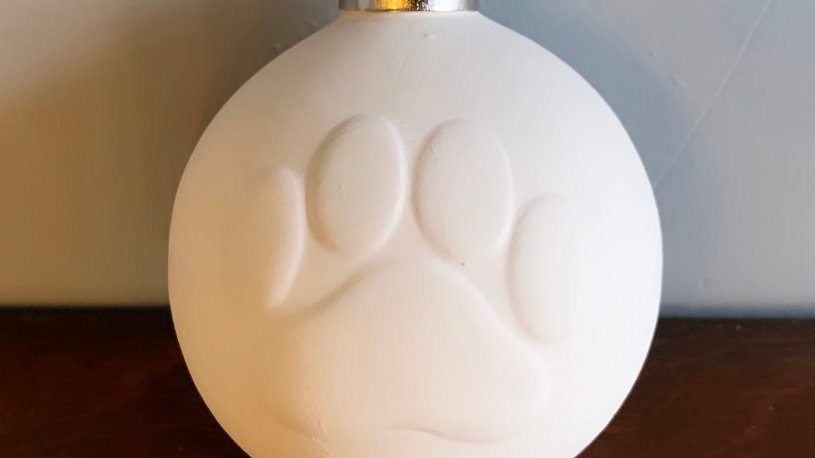 Paw Print Ornament with Top