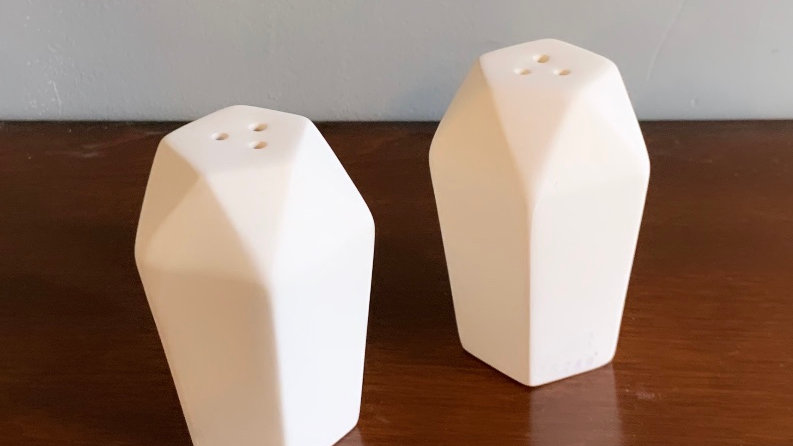 Faceted Salt and Pepper Shakers