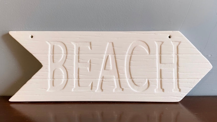 """Beach"" Arrow Sign"