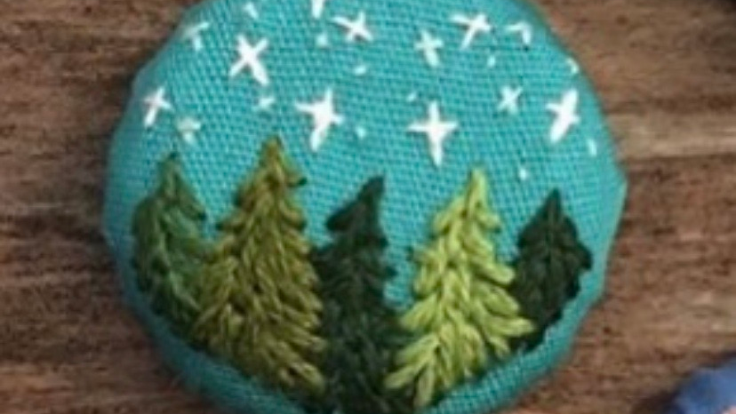 Hand-embroidered Upcycled Bottle Cap Magnet