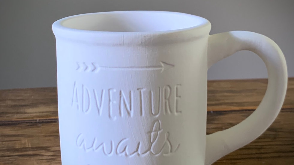 """Adventure Awaits"" Mug"