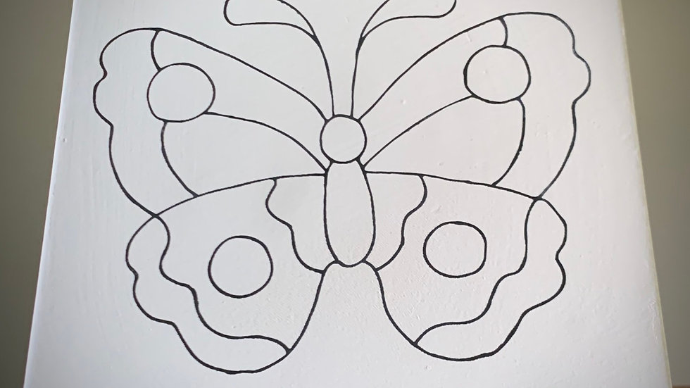 "Butterfly ""Coloring Book"" Tile"