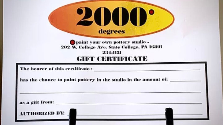 Gift Certificate: $15